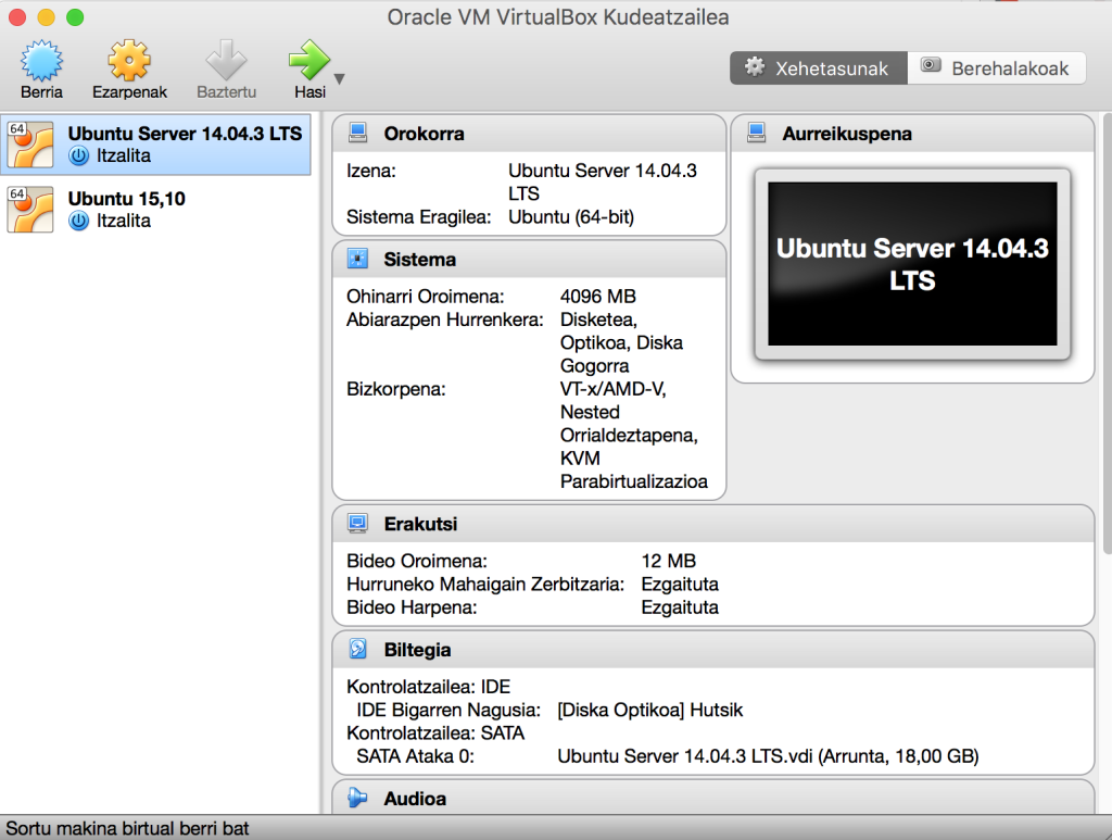 VirtualBox pantaila 1