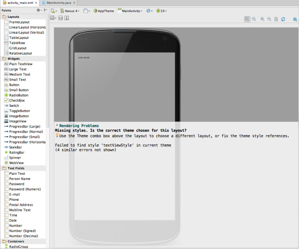 AndroidStudioRenderingProblems
